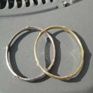 Set of 2 Bangle Bracelets